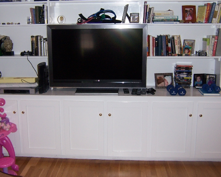 Built-In Cabinets w Components Installed in Center